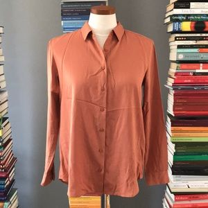 Uniqlo Button Down Dusty Tan Blouse